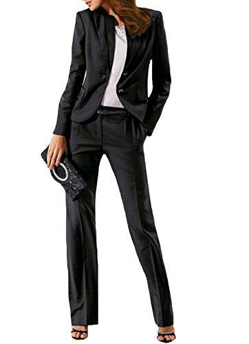 P.L.X Damen Anzug Hochzeit Zweiteiliger Business Manner Hosenanzug Hose mit Jacke