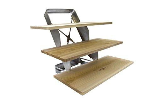 Charcoal Companion Support à Trois étages avec Planches à grillade en cèdre, Silver, 30,23x5,59x14,99 cm