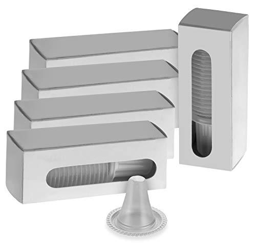 Exeta PB-0600 Ersatzschutzkappen für Braun Thermoscan Thermometer, 100 Stück