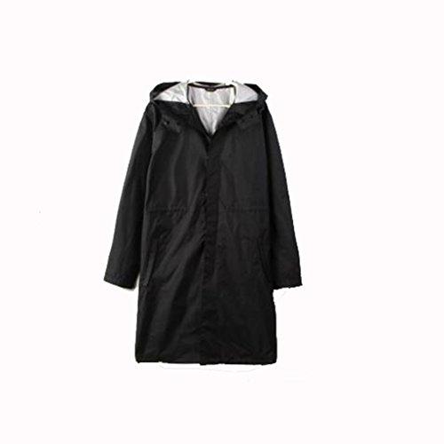 SXZHSM Regenponcho regenjas voor heren, casual, met waterdichte coating van waterdicht nylon regenponcho, regenjas