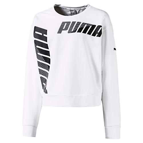 PUMA Mädchen Pullover Modern Sports Crew TR G, Puma White, 104, 580417
