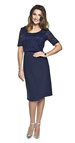 Torelle Maternity Wear Umstandskleid festlich mit Stillfunktion, Modell: Blanca, dunkelblau, XS
