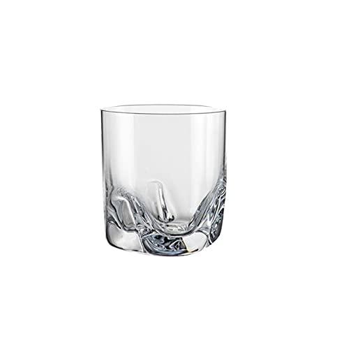 Vaso para beber, vaso de jugo de leche, vaso de vino extranjero y vaso de whisky, vidrio transparente sin plomo, un juego de 2 cortos A6