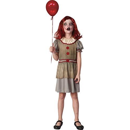 Ciao-Costume Horror Creepy Clown bambina, 7-10 anni, Multicolore, 16073.7-10