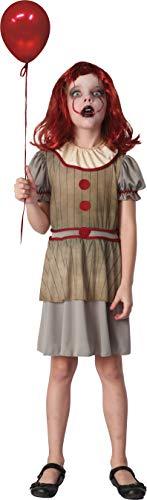 Ciao - Disfraz Horror Creepy Clown para niña, 7-10 años, multicolor, 16073.7-10