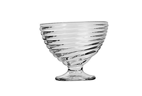 takestop Copas de helado de cristal transparente, juego de 3 piezas, diseño moderno, 10 x 10 x 8,5 cm