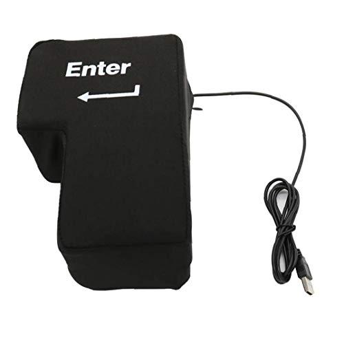 USB Grande tecla Enter Anti Stress Button descompresión del Ordenador Cualquier botón...