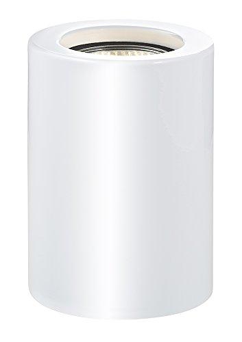 Haysom Interiors White Gloss LED Table/Floor Lamp Uplighter, Steel