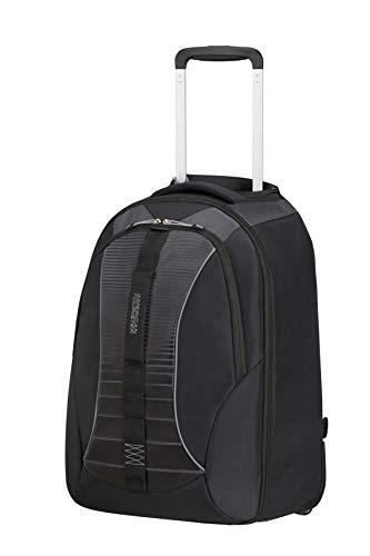 American Tourister Fast Route - 15.6 Pollici Zaino Porta PC con Ruote, 51 cm, 38.5 L, Nero (Black/Grey)