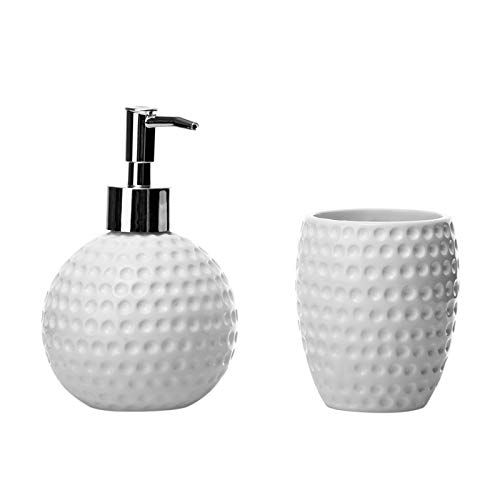 Dcasa - Set de baño nórdicos Blancos de cerámica para Cuarto de baño Arabia
