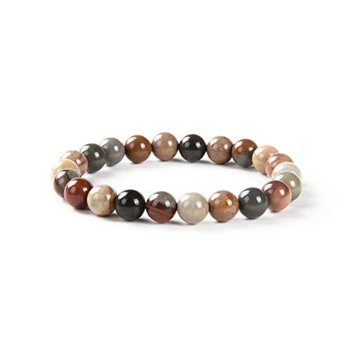 Fukugems Natural Stone Beaded Bracelets for Men Women Healing, Ocean Jasper Bracelet 6mm