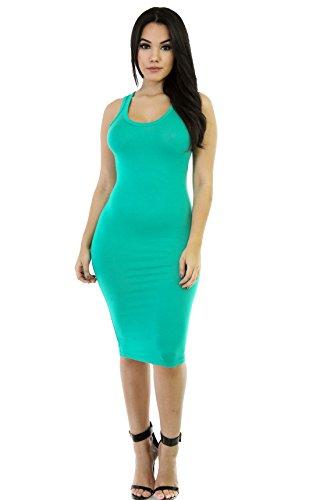 YALI Ein langes Kleid, Inter Spring Green, S