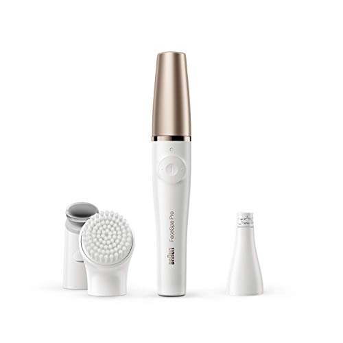 Braun FaceSpa Pro 911 Epilator – 3-in-1 Facial epilating, vitalizing & skin toning system for salon beauty at home