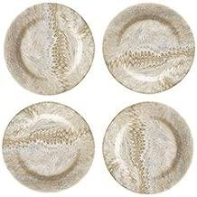 Juliska Firenze Cappuccino Marbleized Cocktail Plate Set of 4