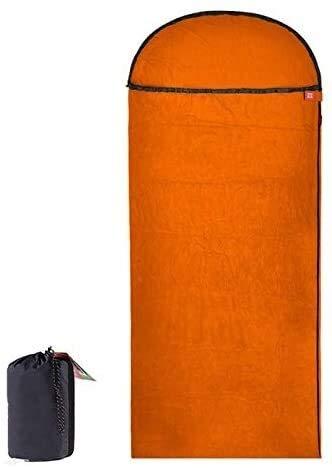 Sacco a pelo Tasca Lunghe Sacchi a Pelo in Pile Ultralight Campeggio Portatile Estivi all'aperto Sacchi a Pelo, Escursioni Busta 215cmx76cm, Colore: Arancione (Color : Orange)