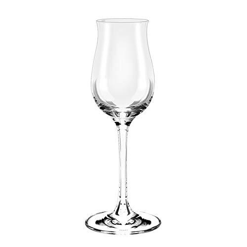 WWWANG Copa de Vino Copa de Vidrio Transparente espíritu sin Plomo Almacenamiento pequeño, práctico y portátil (Color : Clear, Size : 125ml)