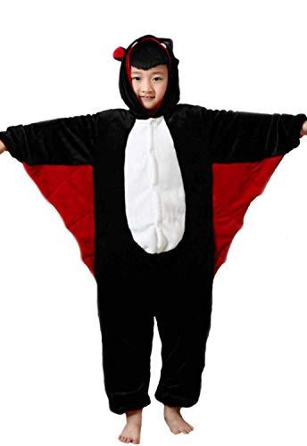 Kigurumi Pyjamas Tiere Kinder Overall Kostüm Karneval Halloween Party Cosplay Unisex M/8-9 Jahre Fledermaus