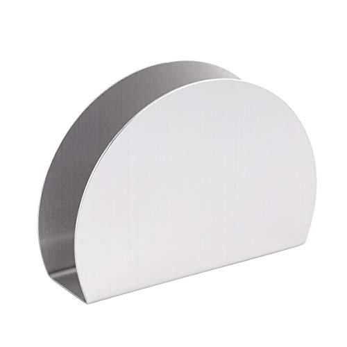 Meijin Soporte vertical para pañuelos de papel dispensador de papel de acero inoxidable servilleta soporte para servilletas para el hogar, restaurante, cafetería, cocina (color: plata)