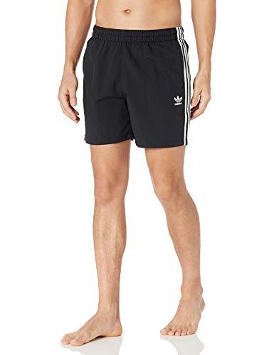 adidas Originals 3-Stripes Swim Shorts Baador para Hombre, Negro, M