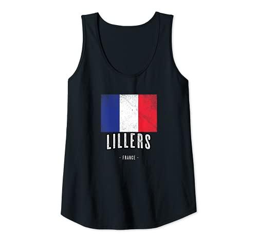 Femme Ville de LILLERS - France   FR - Drapeau Français - Débardeur