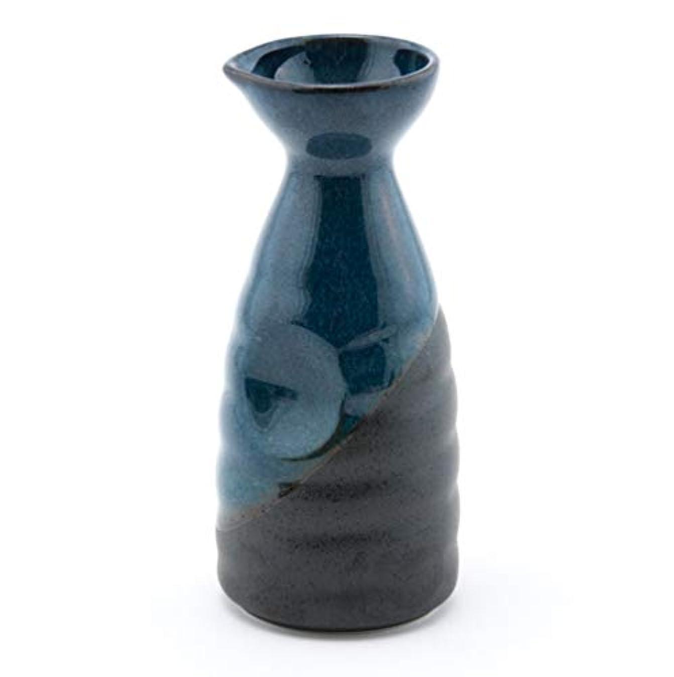Fuji Merchandise Porcelain Tokkuri Sake Bottle 10 fl oz Japanese Restaurant Supply (Blue Sake Bottle 10oz)