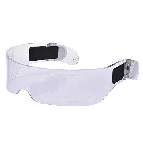 YYMM Gafas LED, Gafas de Sol Luminosa de la decoración Luminosa del Partido de El Neón, Bottle Battery Colors, para DJ Decoración de Halloween