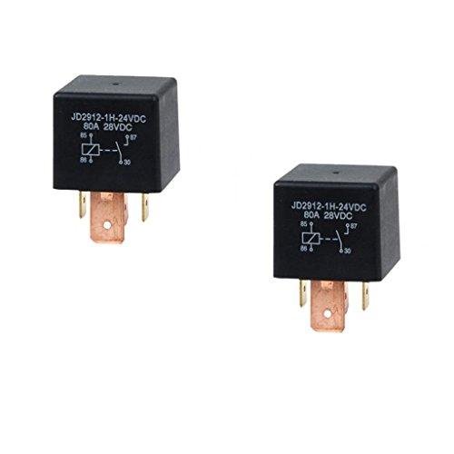 2x Interruptor Conmutación SPDT Relés 4 Pin de Coche, JD2912-1H-24VDC 80A 28VDC