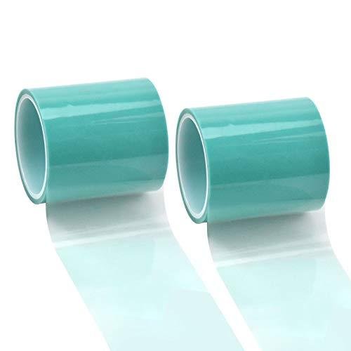 50mm*10m Craft Tape Klebeband für UV Harz Nahtloses Klebeband Anti-Leck-Klebeband Papierband für Metall Hohlrahmen Anhänger Schmuck Charm DIY UV Harz Epoxidharz Handwerk- PET Film-Transparent Grün