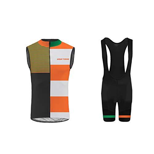 Uglyfrog Veste sans Manches Vélo pour Hommes Manteau Vélo Ultra-Léger et Coupe-Vent Réfléchissant Gilet Sports de Plein airs A01