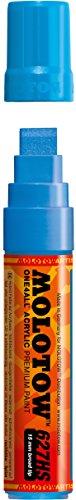 Molotow ONE4ALL Acryl-Marker, 2 mm, stoßblau, 1 Stück (127.205) Paint Marker - 15mm Shock Blue Middle