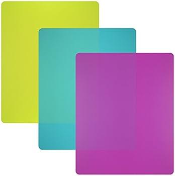 Set of 3 Flexible Plastic Cutting Board Mats Set