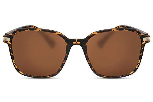Cheapass Gafas de Sol Mariposa Oversize Mujer Diseño Moderno Montura Tortuga con Lentes Marrones UV400 Modernas