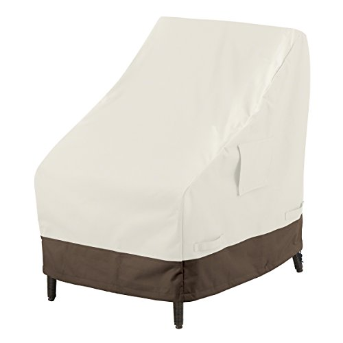 AmazonBasics High-Back Chair Outdoor Patio Furniture Cover, 4-Pack