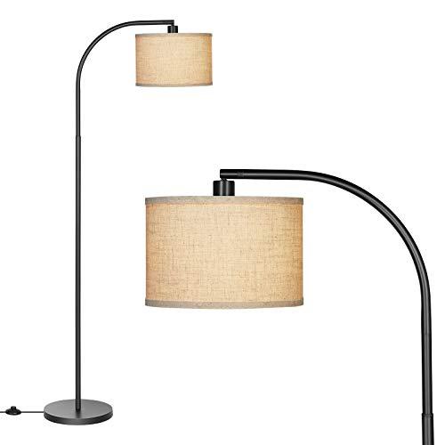 DEWENWILS Lámparas de piso arqueadas modernas para sala de estar, pantalla de línea ajustable, lámpara de pie para sala de estar,...