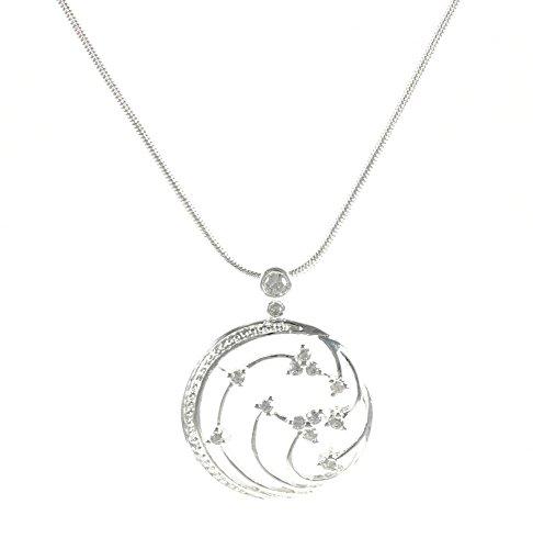 lau-fashion Damen Märchen Wald Halskette mit Anhänger Silber Geschenk Set Ø 25mm