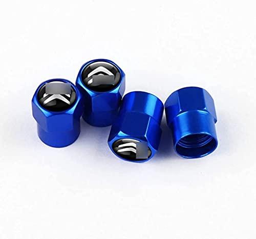 Coche Neumático Antipolvo Válvula Tapas Para Citroen C6 C8 C4 C5 C3 C2 C1 C4L DS3 DS5, Metal Antirrobo Antipolvo Resistente Agua Decoración Accesorio