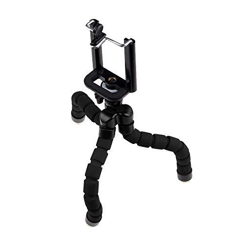 EUROXANTY Trípode Araña | Trípode Pulpo | Trípode Portátil | Trípode para Móvil yTablet | Soporte Resistente | Trípode para cámara Digital | Negro
