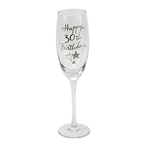 30th Birthday Champagne Flute Glass