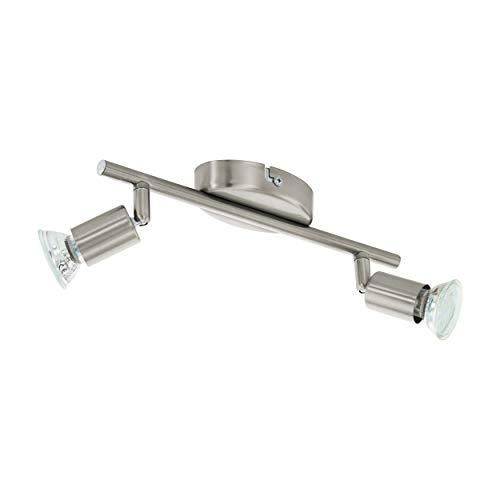 EGLO Spot BUZZ LED Deckenleuchten Deckenlampe, Stahl, GU10, 3 W, nickel-matt