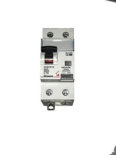 BTICINO GC8813F16 MAGNETOTERMICO DIFFERENZIALE CLASSE F 16A 0,03A 4500K
