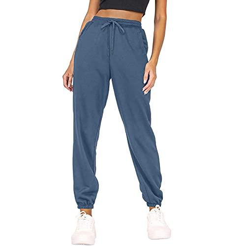 AvoDovA Women's Comfy Yoga Joggers Pants Loose Workout Sweatpants Drawstring Loose Lounge Pants with Pockets
