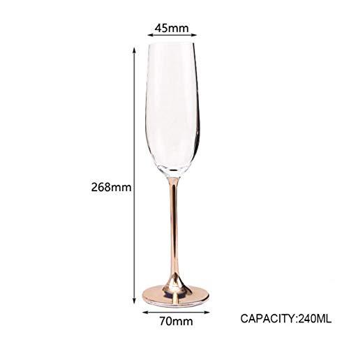 Kristallen Goblets Wijn Glas Elektroplaat Rose Goud Loodvrije Goblet Sap Cocktail Drink Champagne Goblet Party Barware Champagneglas