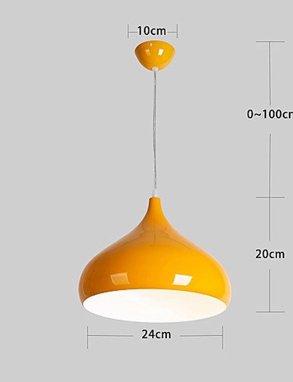 XY&XH Kronleuchter,Max 60W Moderne Zeitgenssische Designer Pendelleuchten Wohnzimmer Schlafzimmer Esszimmer Küche Arbeitszimmer Büro, gelb