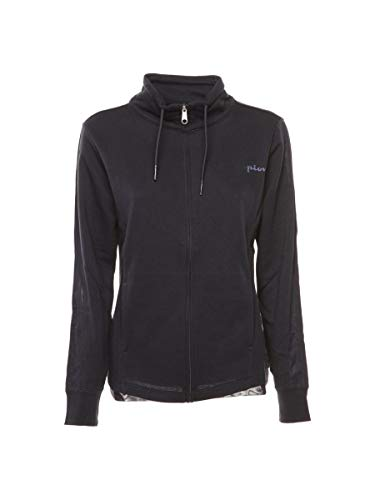 Champion Full Zip Sweatshirt Felpa Donna in GARZATO Blu, M