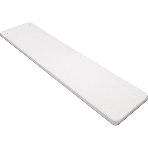 Inter-Fab TB6WW Diving Board Replacement for In-Ground Pools, Techni-Beam, White