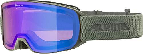 ALPINA Nakiska Q Gafas de esquí, Unisex-Adult, moongrey, One Size