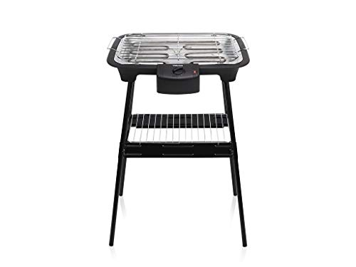 Tristar BQ-2883 Elektrische tafel- en staande barbecue, 38 x 22 cm, incl. grillrooster, regelbare verwarmingsstand, 2000 watt