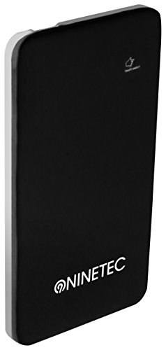 NINETEC Power Bank Akku 5600 mAh Ladegerät externer USB Akku für Smartphone Tablet schwarz NT004