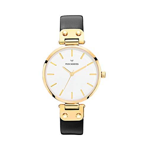 Mockberg Damen Digital Quarz Uhr mit Leder Armband MO107