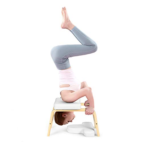 GOPLUS Yoga Kopfstandhocker, Inversion Stuhl mit EPE-Polster, Ergonomische Handstand...